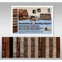 "Bastelblock ""Shabby Style"" 24 x 34 cm - 16 Blatt"