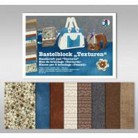 "Bastelblock ""Texturen"" 24 x 34 cm - 16 Blatt"