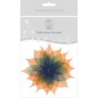 """Dekorative Akzente """"Blätter duo"""" orange/dunkelblau"""