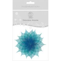 """Dekorative Akzente """"Blätter duo"""" türkis/königsblau"""
