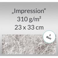 "Designkarton ""Impression"" 23 x 33 cm silber - 5 Blatt"