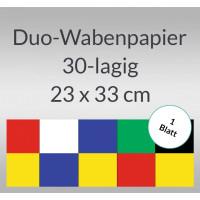 Duo-Wabenpapier 23 x 33 cm - 1 Blatt