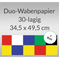Duo-Wabenpapier 34,5 x 49,5 cm - 1 Blatt