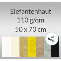 Elefantenhaut 110 g/qm 50 x 70 cm - 10 Bogen