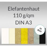 Elefantenhaut 110 g/qm DIN A3 - 10 Blatt