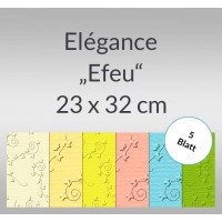 "Elegance ""Efeu"" 220 g/qm 23 x 32 cm - 5 Blatt"