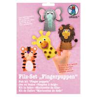 """Filz-Set """"Fingerpuppen"""" Wildtiere"""