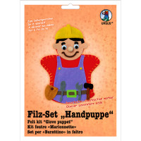 "Filz-Set ""Handpuppe"" Bauarbeiter"