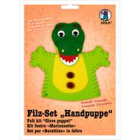 "Filz-Set ""Handpuppe"" Krokodil"