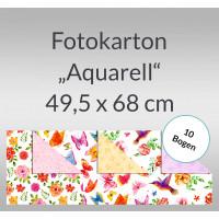 """Fotokarton """"Aquarell"""" 49,5 x 68 cm - 10 Bogen"""