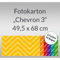 """Fotokarton """"Chevron 3"""" 49,5 x 68 cm - 10 Bogen sortiert"""