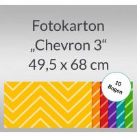 """Fotokarton """"Chevron 3"""" 49,5 x 68 cm - 10 Bogen"""