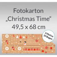 """Fotokarton """"Christmas Time"""" 49,5 x 68 cm - 10 Bogen sortiert"""