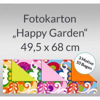 """Fotokarton """"Happy Garden"""" 49,5 x 68 cm - 10 Bogen sortiert"""