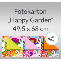 """Fotokarton """"Happy Garden"""" 49,5 x 68 cm - 10 Bogen"""