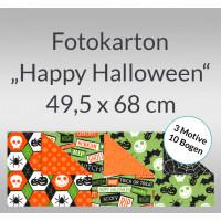 """Fotokarton """"Happy Halloween"""" 49,5 x 68 cm - 10 Bogen sortiert"""