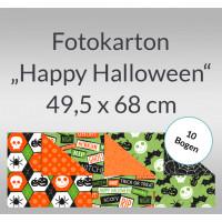 """Fotokarton """"Happy Halloween"""" 49,5 x 68 cm - 10 Bogen"""