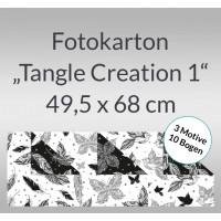 """Fotokarton """"Tangle Creation 1"""" 49,5 x 68 cm - 10 Bogen sortiert"""