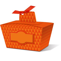 """Geschenkbox """"Joelle"""" orange - Motiv 02"""