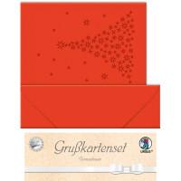 """Grußkarten """"gelasert"""" Tannenbaum rubinrot - 5 Karten"""