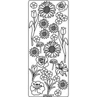 """Hologramm Sticker """"Blumen"""" silber"""