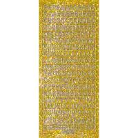 """Hologramm Sticker """"Buchstaben groß 1"""" gold"""