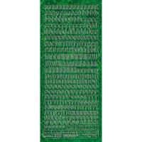 """Hologramm Sticker """"Buchstaben klein 1"""" grün"""