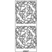 """Hologramm Sticker """"Ecken Blüten"""" silber"""