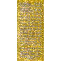 "Hologramm Sticker ""Grüße"" gold"