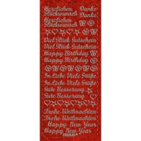 "Hologramm Sticker ""Grüße"" rot"