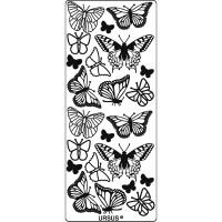 """Hologramm Sticker """"Schmetterlinge"""" silber"""