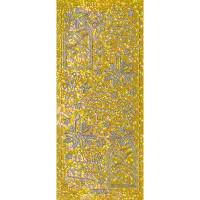 """Hologramm Sticker """"Weihnachten 1"""" gold"""