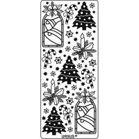 """Hologramm Sticker """"Weihnachten 1"""" silber"""