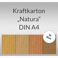 """Kraftkarton """"Natura"""" DIN A4 - 50 Blatt"""