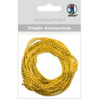 """Kreativ Accessoires """"Mini Pack"""" Kordel gold metallic"""