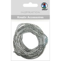 """Kreativ Accessoires """"Mini Pack"""" Kordel silber metallic"""