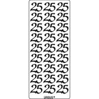 """Kreativ Sticker """"25"""" silber"""