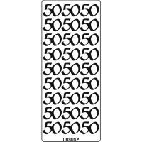 "Kreativ Sticker ""50"" gold"