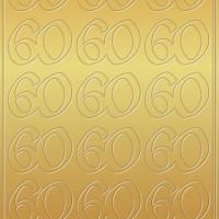 "Kreativ Sticker ""60"" gold"