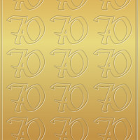 "Kreativ Sticker ""70"" gold"