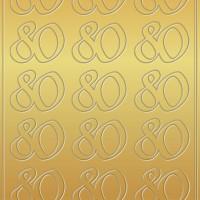 "Kreativ Sticker ""80"" gold"