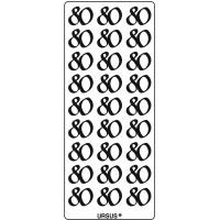 """Kreativ Sticker """"80"""" silber"""