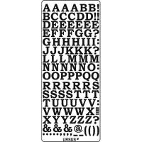 """Kreativ Sticker """"Buchstaben groß 2"""" silber"""