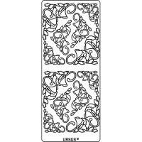 """Kreativ Sticker """"Ecken Blüten"""" silber"""