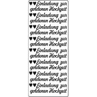 """Kreativ Sticker """"Einladung zur goldenen Hochzeit"""" gold"""
