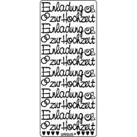 """Kreativ Sticker """"Einladung zur Hochzeit"""" silber"""