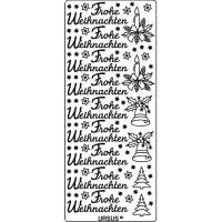"""Kreativ Sticker """"Frohe Weihnachten 1"""" silber"""