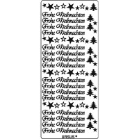"""Kreativ Sticker """"Frohe Weihnachten 2"""" silber"""