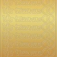 """Kreativ Sticker """"Für dich - in Liebe"""" gold"""
