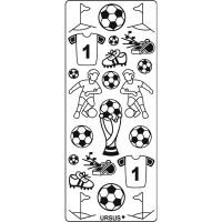 "Kreativ Sticker ""Fußball"" silber"